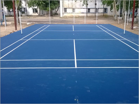 Synthetic Badminton Court