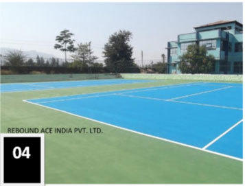 Tennis Court Flooring Installation