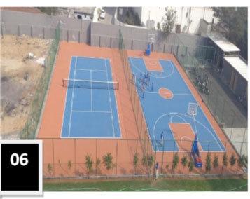 Tennis Court Rubber Mat