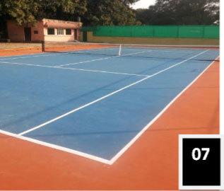 Lawn Tennis Rubber Flooring