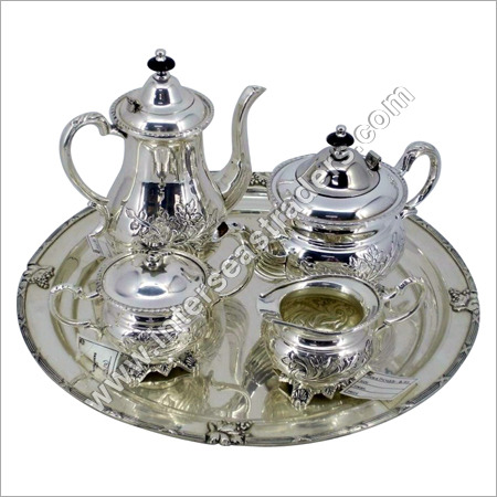 White Metal Tea Sets