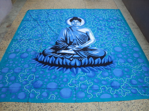 NEW PRINTED BUDDHA PAINTED TAPESTRY FROM INDIA