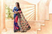Multicolored Georgette Printed Partywear Saree