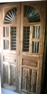 Brown Wooden Jali Door
