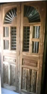Brown Wooden Jali Door