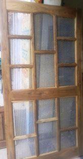 Wooden Entrance Door With Net