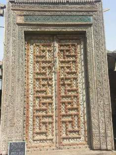 Rajwadi Carving Wooden Double Doors