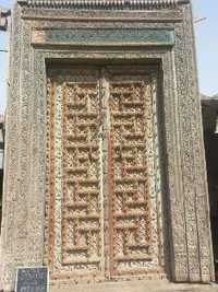 Rajwadi Carving Wooden Double Doors