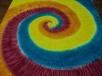 TIE DYE SPIRAL TAPESTRY INDIAN