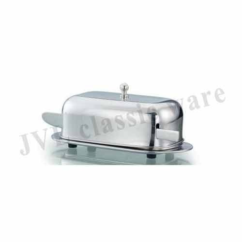 Steel Covered Butter Dish