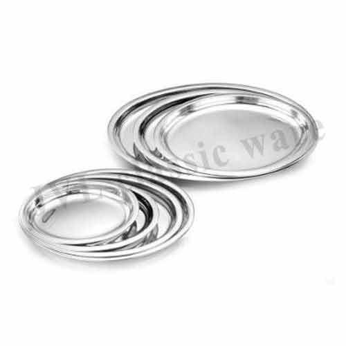 SS Deep Oval Platter