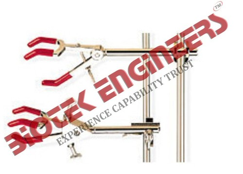 DOUBLE ADJUSTABLE THREE PRONG CLAMP