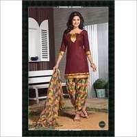 Cotton Patiala Dress Material