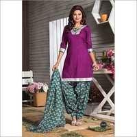 Unstitched Patiala Cotton Dress
