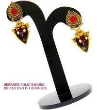 Polki earring, designer polki earring