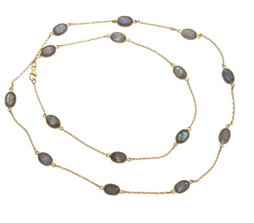 Labradorite Gemstone Chain Necklace