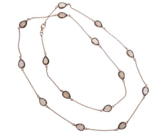Smoky Topaz Gemstone Chain Necklace