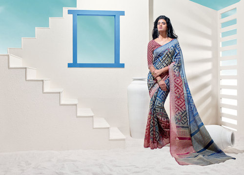 Buy new brasso multicoloered saree