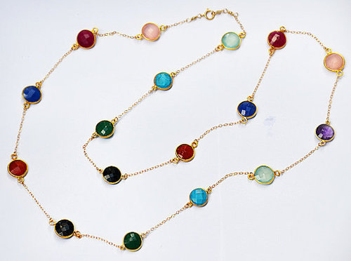 Long Station Chain Necklaces