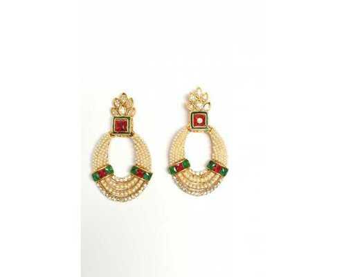 Kundan Polki Stone Studded Earrings