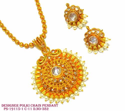 Designer Polki Chain Pendant