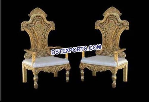 Wedding Wooden Carved Designer Chairs