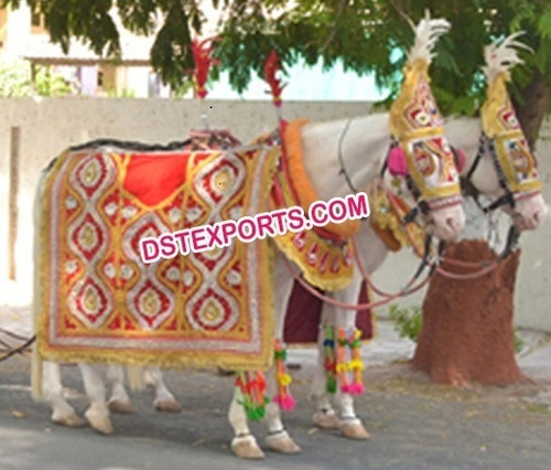 Indian Wedding Barat Horse Decorations