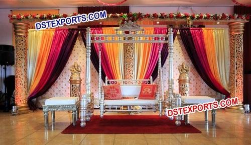 Indian Wedding Mehndi Stage Decors