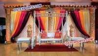 Indian Wedding Mehndi Stage Decors
