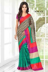 Multicolored Zimmy Silk Printed Partywear Saree