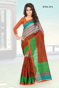 Multicolored Nep Silk Printed Partywear Saree
