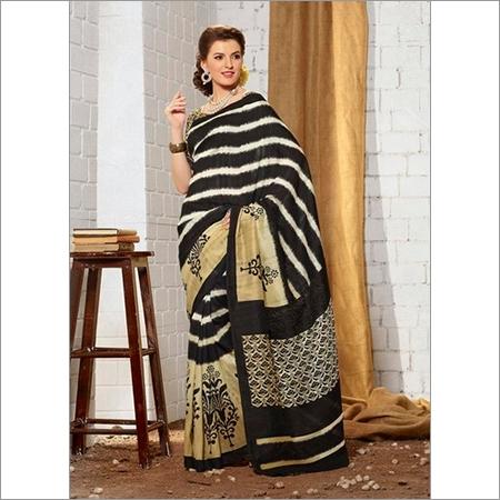 Buy new black khadi silk saree