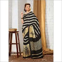 Buy new black khadi silk saree