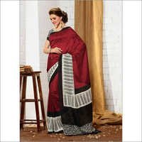 Modish new maroon khadi silk saree