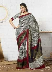 Multicolored khadi silk saree with dhupion blouse