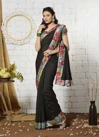 Black new Khadi silk saree