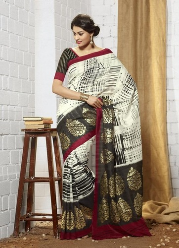 Multicolor Khadi Silk Saree
