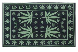 GREEN LEAF TAPESTRY FROM INDIA