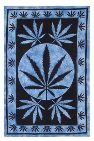 LEAF PRINTED TAPESTRY INDIAN