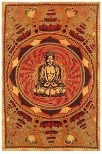 PRINTED LOTUS BUDDHA TAPESTRY