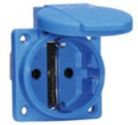 Panel mounting socket outlet