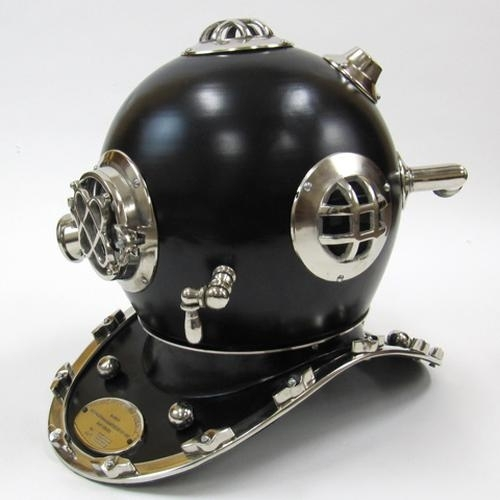 Black Diving Helmet