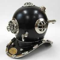 Black Diving Helmet
