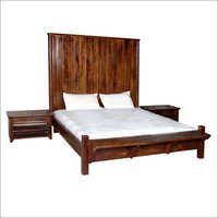 King Goerge Solid Wood Mango Bed with Bedsides