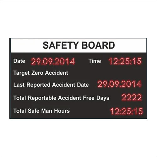 Safety Instruction Display Boards