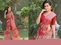 Red Colour Printed  Saree