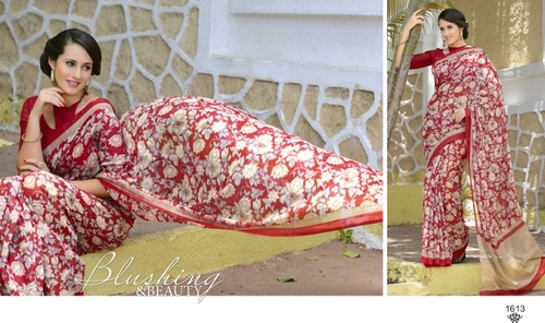 Red Color Khadi Silk Saree
