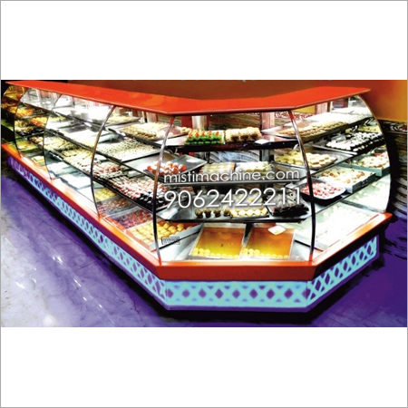 Diamond shape L-type Sweets Display Counters
