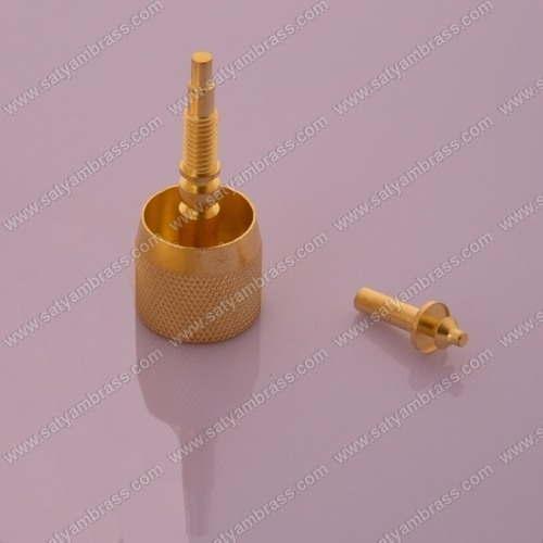 Brass Spindle and Knob