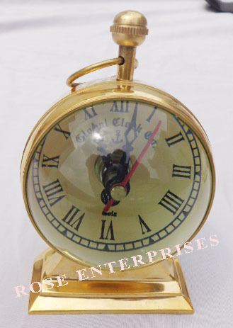 Brass Desktop Trophy Clock